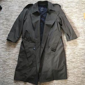 Christian Dior Monsieur Olive Green 44R Trenchcoat